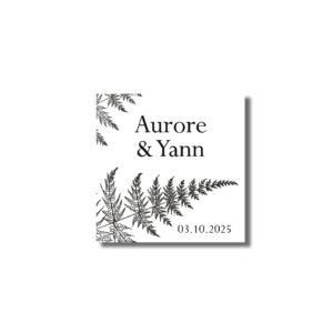 Sticker étiquette autocollante cadeau d'invité Nature 37mm