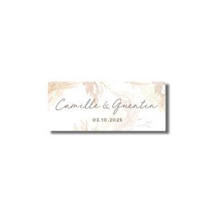 Sticker étiquette autocollante cadeau d'invité Pampa 60*25mm