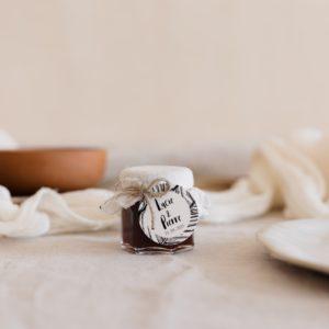pots de confiture latte étiquette ronde bali cadeau personnalisé mariage