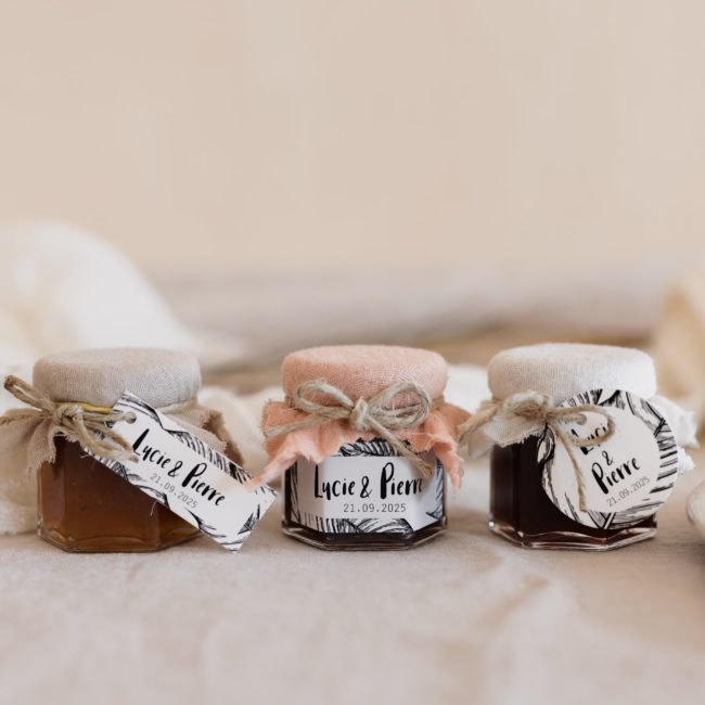 pots de confiture collection bali cadeau personnalisé mariage