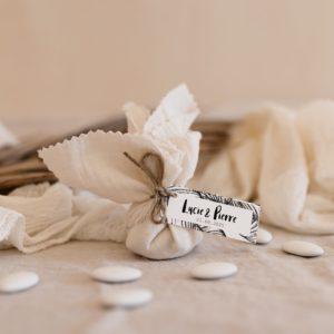 aumonière de dragées bali latte cadeau invité mariage