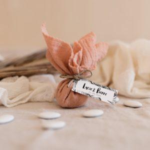 aumonière de dragées bali nude cadeau invité mariage