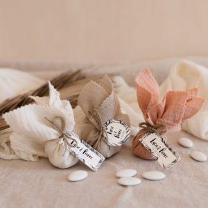 aumonière de dragées bali trio cadeau invité mariage