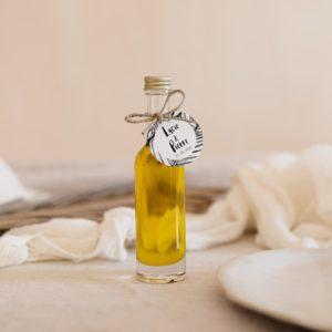 mignonette huile d'olive de provence étiquette ronde bali cadeau personnalisé mariage
