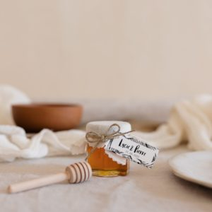 pots de miel latte étiquette rectangle bali cadeau personnalisé mariage