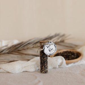 tube graines à semer etiquette ronde bali cadeau personnalisé mariage