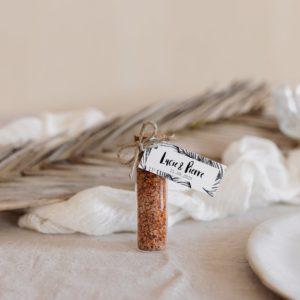 tube fleur de sel piment bali cadeau personnalisé mariage