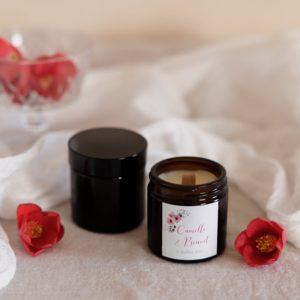bougie verre brun bloom cadeau personnalisé mariage