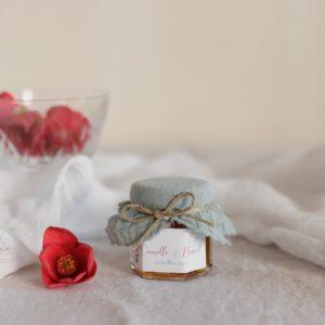 pot de confiture amandier stickers bloom cadeau personnalisé mariage