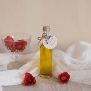 mignonette huile olive étiquette ronde bloom cadeau personnalisé mariage