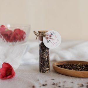 tube de graines à semer étiquette ronde bloom cadeau personnalisé mariage
