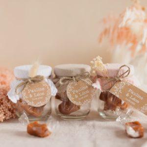 pot caramels collection champetre cadeaux personnalisé mariage