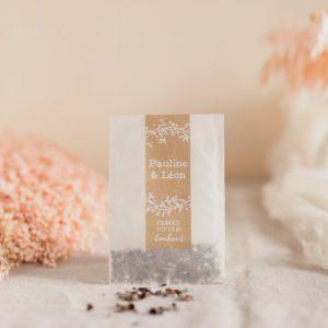 sachet graines à planter champetre cadeaux personnalisé mariage