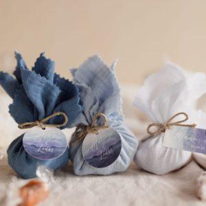 aumônière de caramels collection deepblue cadeau personnalisé mariage
