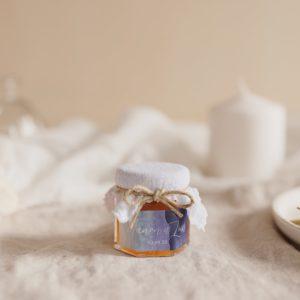 pot confiture blanc sticker deepblue cadeau personnalisé mariage