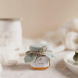 pot confiture amandier stickers garrigues cadeau personnalisé mariage