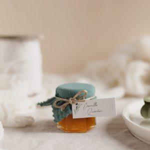 pot confiture celadon étiquette rectangle garrigues cadeau personnalisé mariage