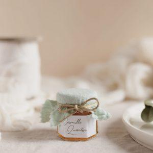 pot confiture vertdeau stickers garrigues cadeau personnalisé mariage