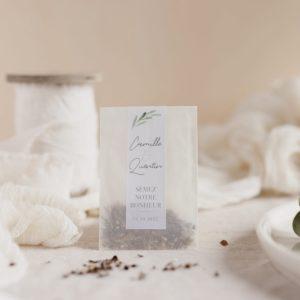 sachet de graines à semer garrigues cadeau personnalisé mariage