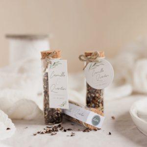 tube de graines à semer collection garrigues cadeau personnalisé mariage
