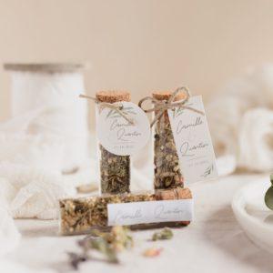 tube infusion fleurs collection garrigues cadeau personnalisé mariage
