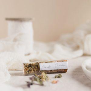tube infusion fleurs stickers garrigues cadeau personnalisé mariage