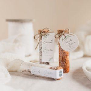 tube fleur de sel collection garrigues cadeau personnalisé mariage