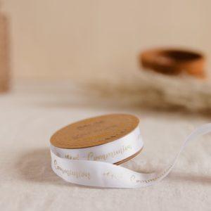 2-Ruban en satin blanc communion décoration petits cadeaux invités express
