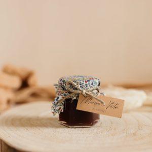 Petit pot de confiture Liberty cadeau d'invité personnalisé mariage Multicolor