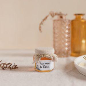 pot miel latte stickers nature cadeau personnalisé mariage
