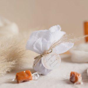 aumônière de caramels pampa cadeau invité mariage