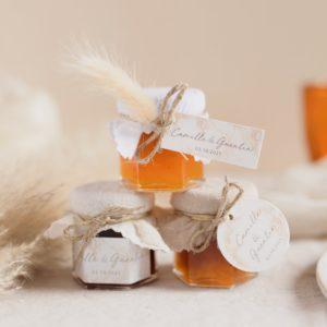 pot de confiture pampa trio cadeau invité mariage personnalisé
