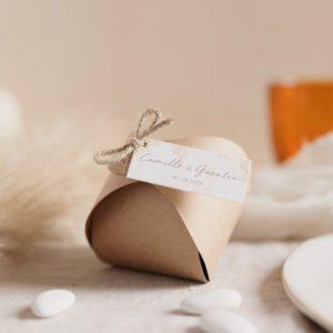 boite dragées pampa cadeau invite mariage