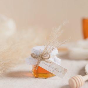 pot de miel pampa blanc cadeau mariage personnalisé