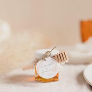 pot de miel pampa latte cadeau mariage personnalisé