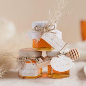 pot de miel pampa trio cadeau mariage personnalisé