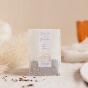 sachet de graines a semer pampa cadeau invité mariage personnalisé