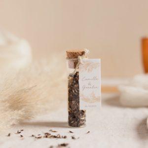 tube de graines a semer pampa cadeau invité mariage