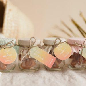 pot caramels collection sunset cadeau personnalisé mariage