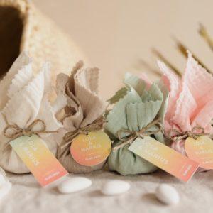 aumônière de dragées collection sunset cadeau personnalisé mariage