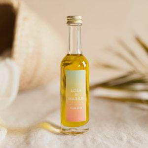 mignonnette huile olive stikers sunset cadeau personnalisé mariage