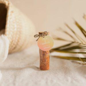 tube fleur de sel piment étiquette ronde sunset cadeau personnalisé mariage