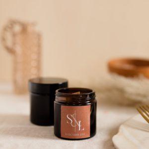 bougie verre brun terracotta cadeau personnalisé mariage