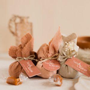 aumônière de caramels collection terracotta cadeau personnalisé mariage
