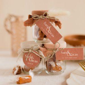 pot de caramels collection terracotta cadeau personnalisé mariage