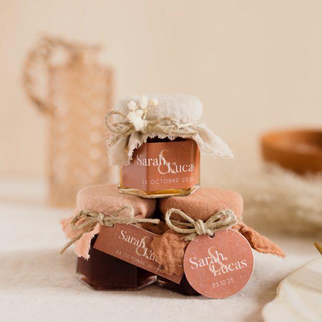 pot de confiture collection terracotta cadeau personnalisé mariage
