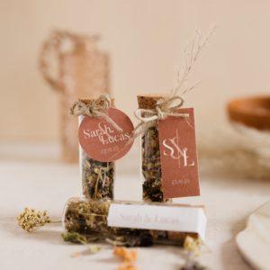 infusion de fleur collection terracotta cadeau personnalisé mariage