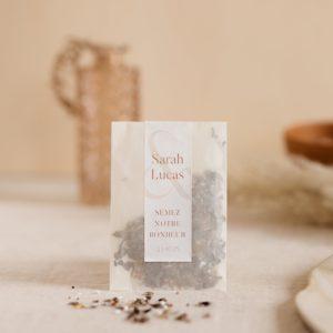 sachet de graines à semer terracotta cadeau personnalisé mariage