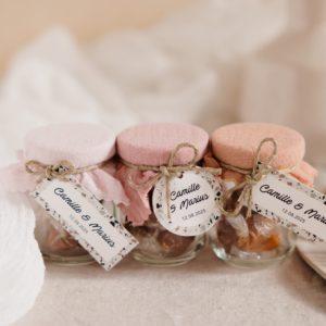 pot caramels collection terrazzo cadeau personnalisé mariage