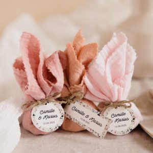 aumônière de dragées collection terrazzo cadeau personnalisé mariage